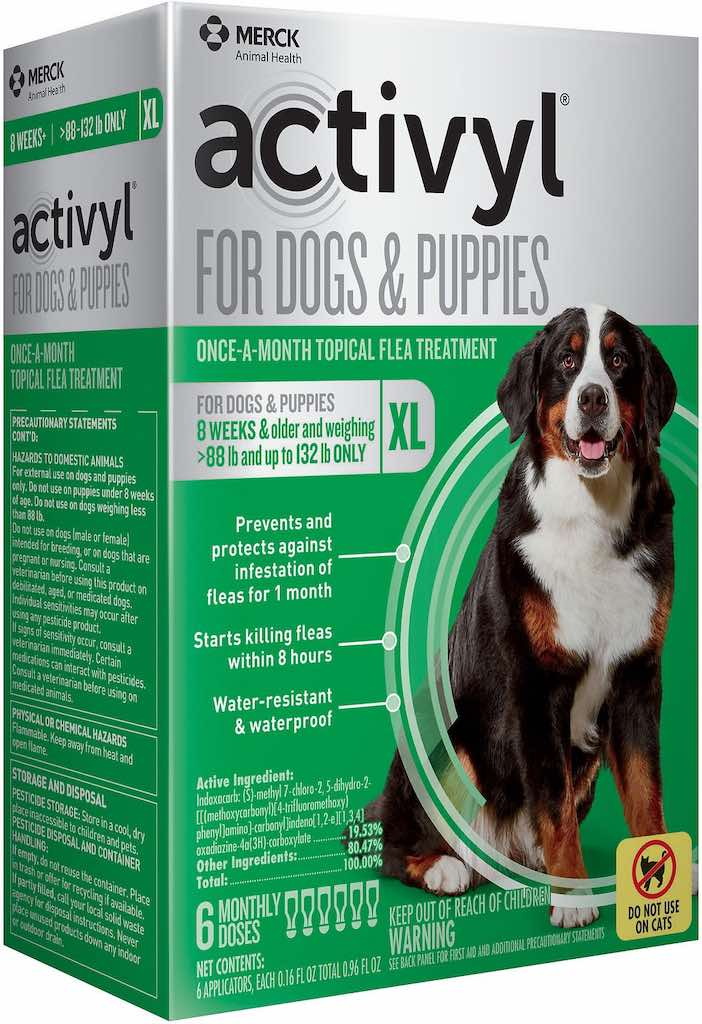 Activyl for Dogs & Puppies 6 doses 88-132 lbs (Green) 1