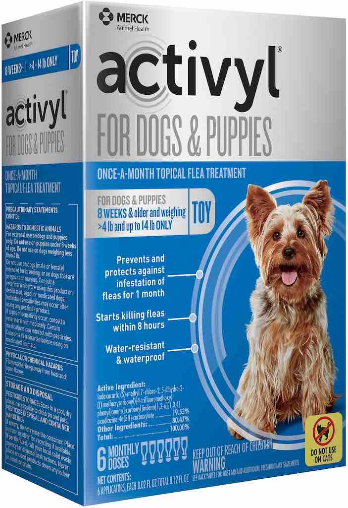 Activyl for Dogs & Puppies 6 doses 4-14 lbs (Blue) 1