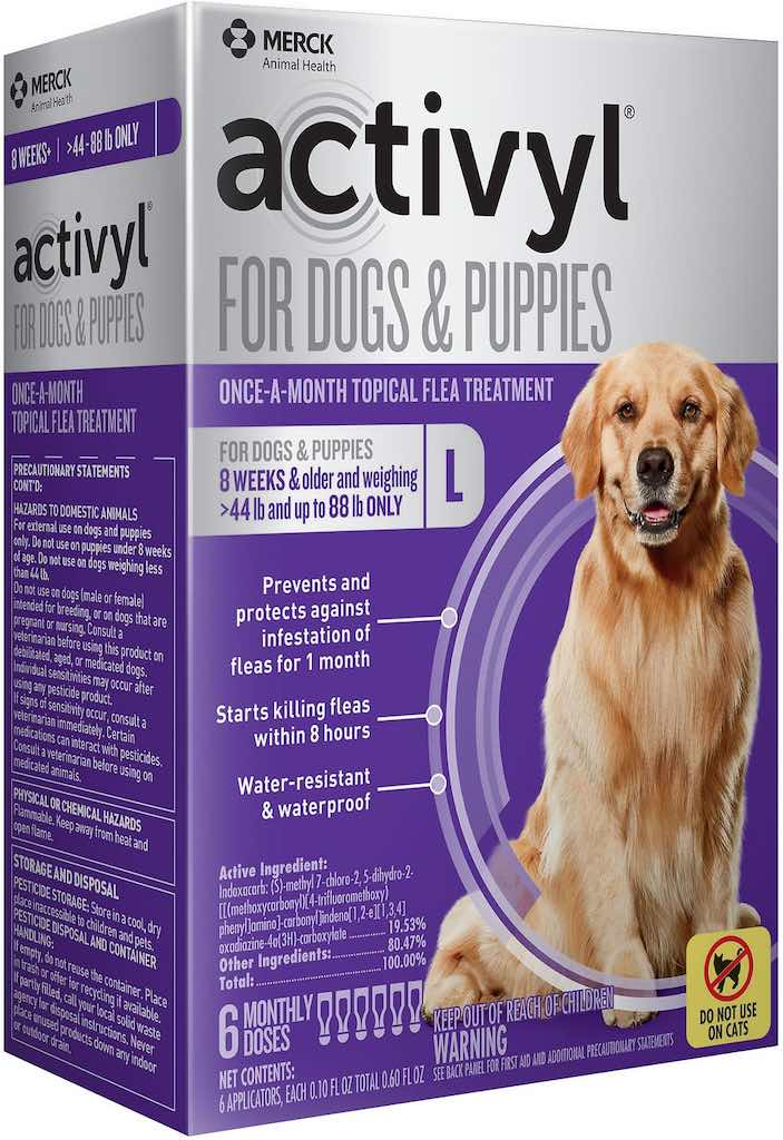 Activyl for Dogs & Puppies 6 doses 44-88 lbs (Purple) 1