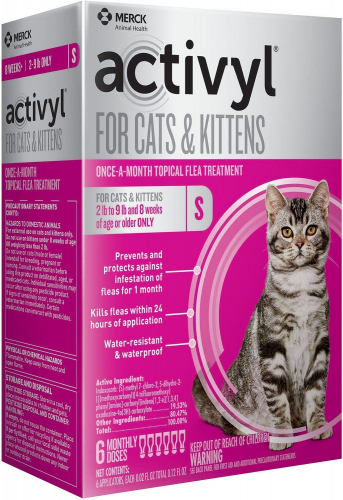 Activyl for Cats & Kittens 6 doses 2-9 lbs (Pink) 1