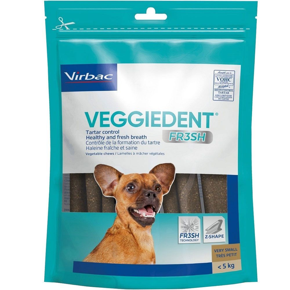 C.E.T. VeggieDent Fr3sh Tartar Control Chews for Dogs 30 chews under 11 lbs (extra small dogs) 1