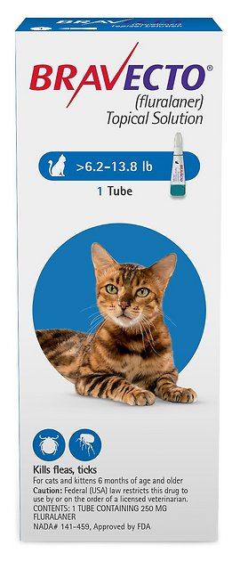 Bravecto Topical Solution for Cats 1 tube 6.2-13.8 lbs (Blue) 1