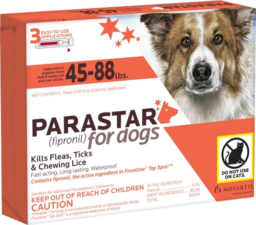 Parastar 3 applicators for dogs 45-88 lbs (Red) 1