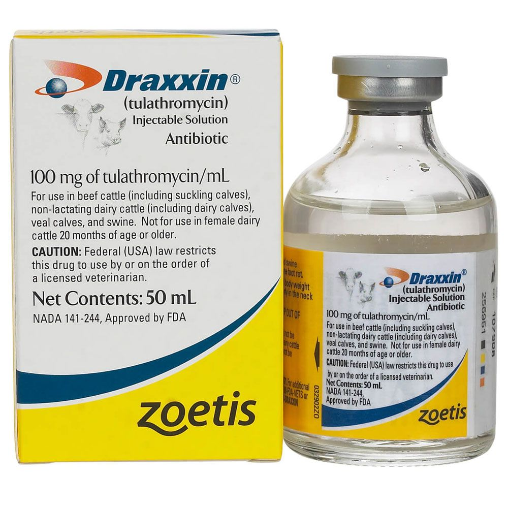 Draxxin Injectable Solution 50 ml 1