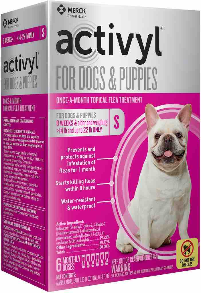 Activyl for Dogs & Puppies 6 doses 14-22 lbs (Pink) 1