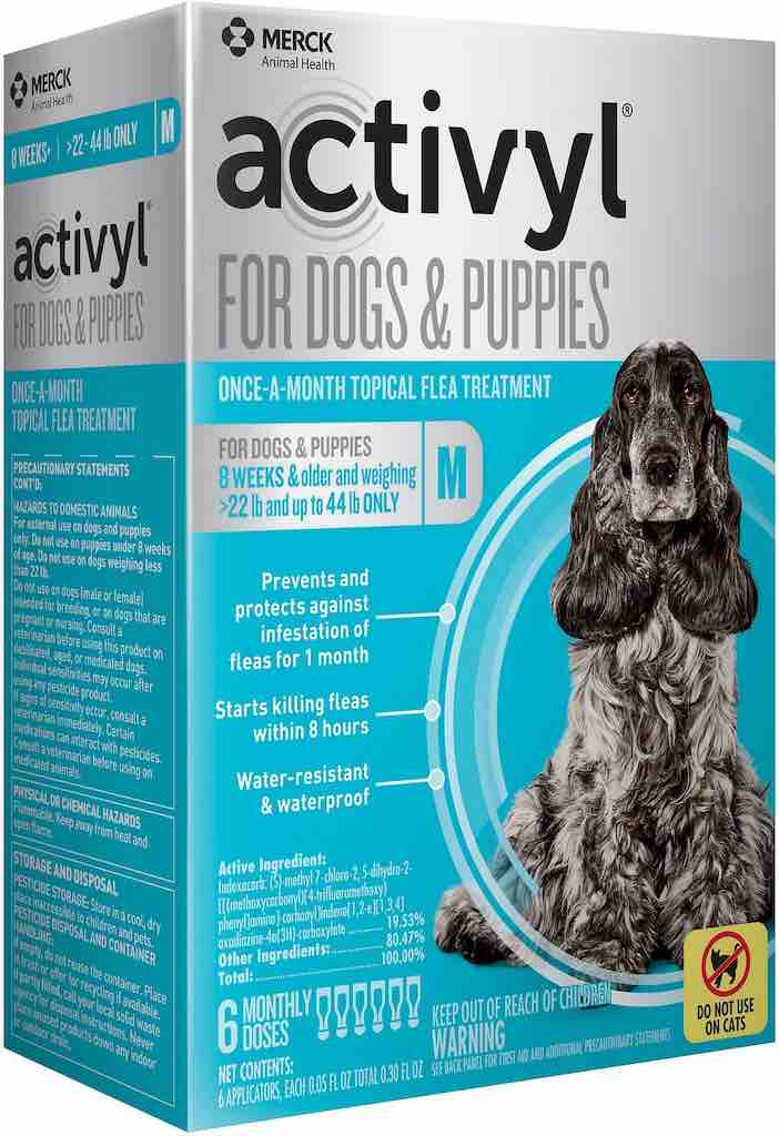 Activyl for Dogs & Puppies 6 doses 22-44 lbs (Turquoise) 1