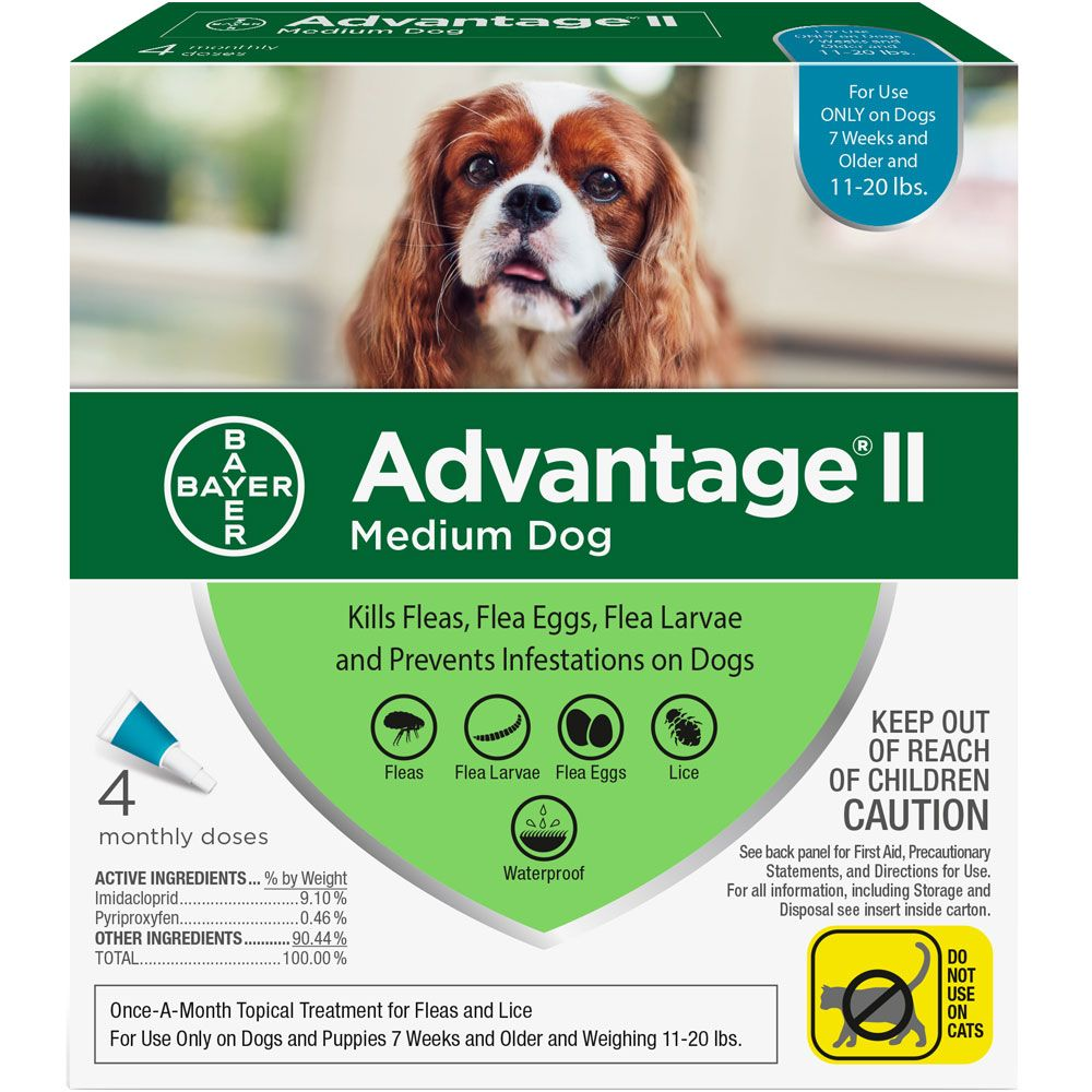 Advantage II for Dogs 4 doses 11-20 lbs (Teal) 1