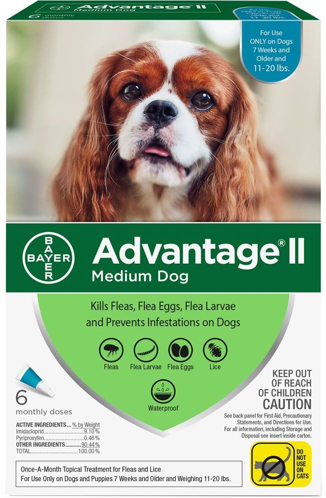 Advantage II for Dogs 6 doses 11-20 lbs (Teal) 1