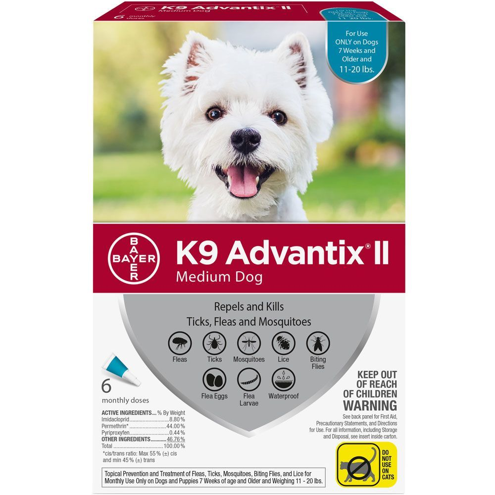 K9 Advantix II 6 doses for dogs 11-20 lbs (Teal) 1