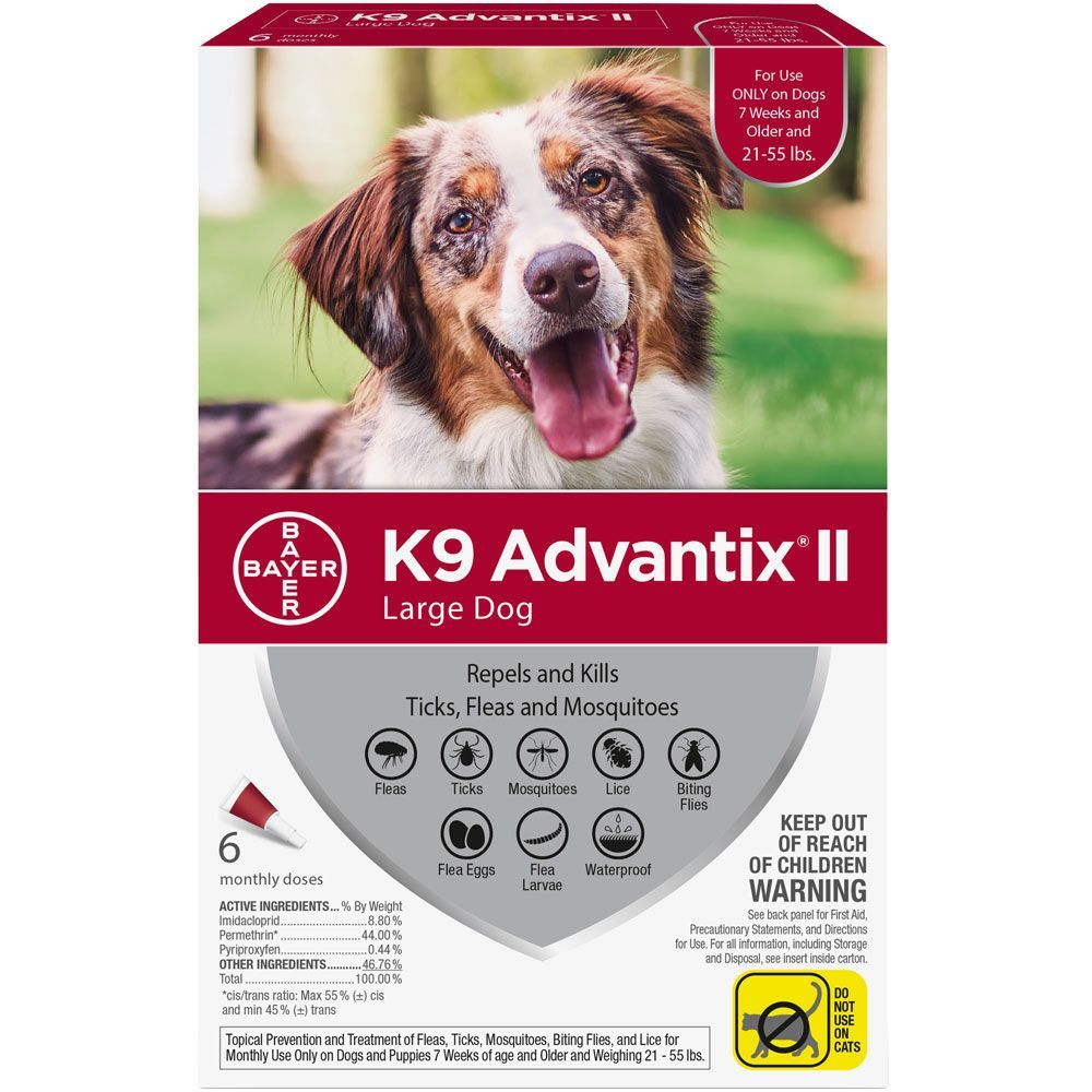 K9 Advantix II 6 doses for dogs 21-55 lbs (Red) 1