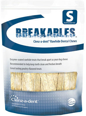 Clenz-a-dent Breakables Rawhide Chews 30 chews for small dogs 1