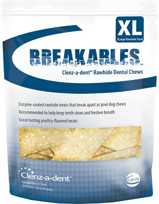 Clenz-a-dent Breakables Rawhide Chews 15 chews for extra large dogs 1