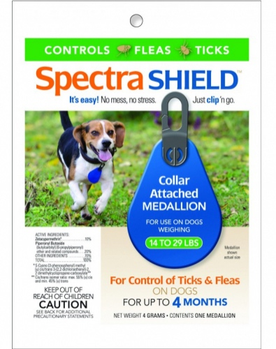 Spectra Shield 1 medallion for dogs 14-29 lbs 1