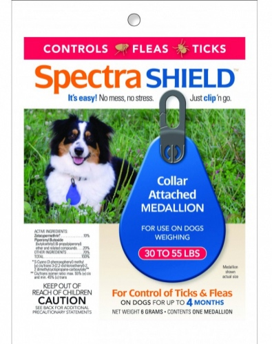 Spectra Shield 1 medallion for dogs 30-55 lbs 1