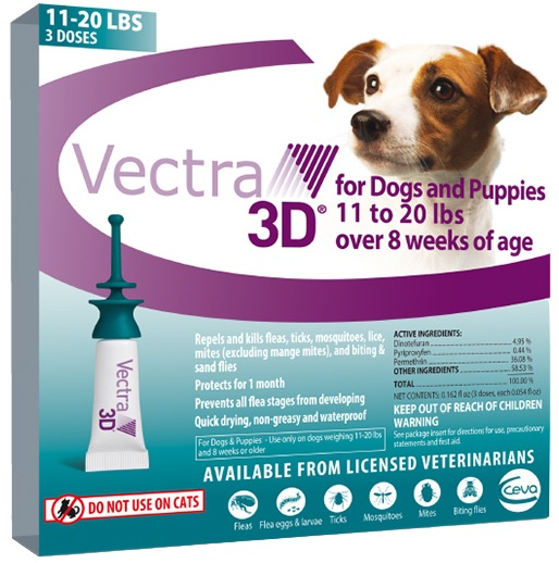 Vectra 3D 3 doses for dogs 11-20 lbs (Teal) 1