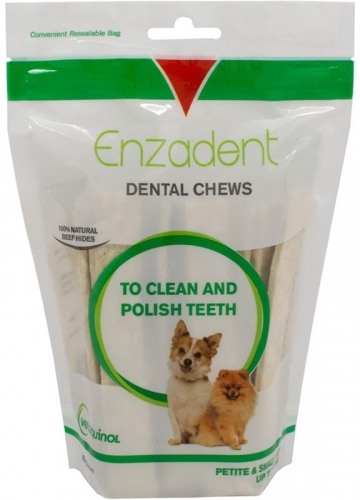 Enzadent Dental Chews 30 count for petite & small dogs up to 15 lbs 1