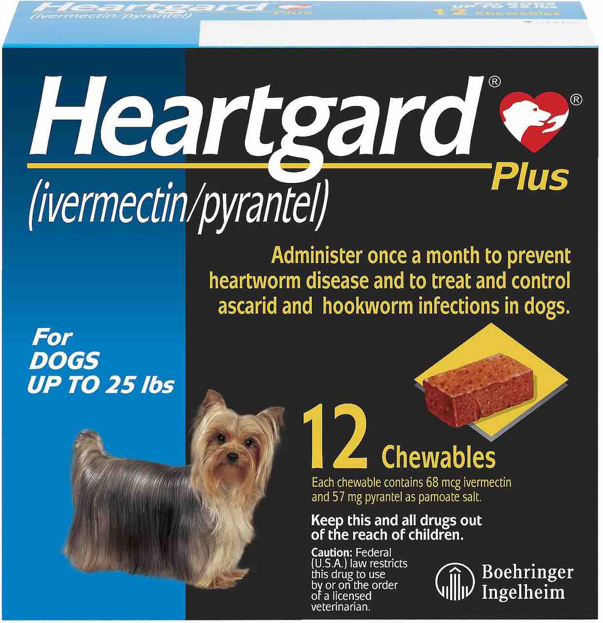 Heartgard Plus Chewables 12 doses for dogs up to 25 lbs (Blue) 1