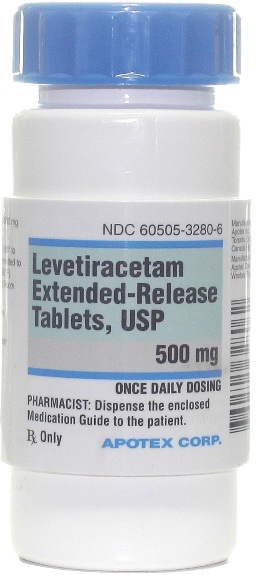 Levetiracetam Extended Release Tablets 500 mg 1 count 1