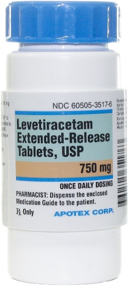 Levetiracetam Extended Release Tablets 750 mg 1 count 1