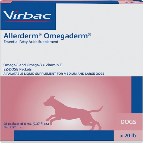 Allerderm Omegaderm 28 packets of 8ml for medium & large dogs over 20 lbs 1