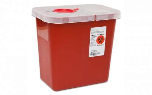 SharpSafety Sharps Container  8 gallon with hinged lid 1