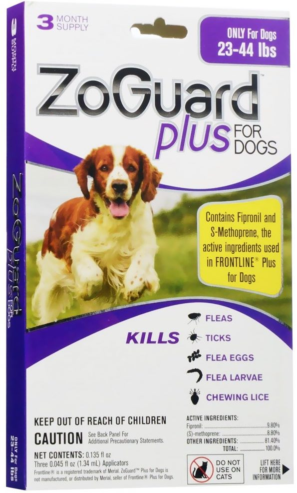 ZoGuard Plus for Dogs 3 doses 23-44 lbs (Purple) 1