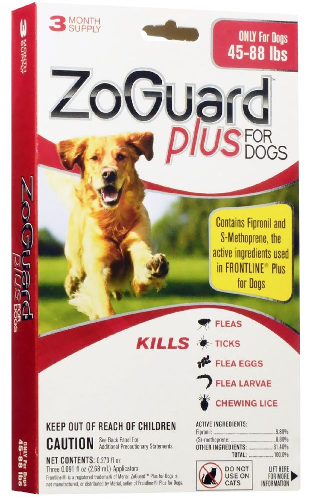 ZoGuard Plus for Dogs 3 doses 44-88 lbs (Red) 1