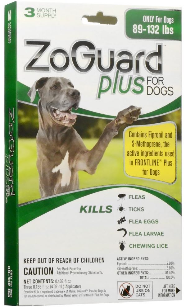 ZoGuard Plus for Dogs 3 doses 89-132 lbs (Green) 1