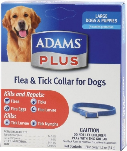 Adams Plus Flea & Tick Collar for Dogs 1 blue collar Large (fits necks up to 25 inch) 1