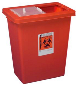 SharpSafety Sharps Container  8 gallon with sliding lid 1