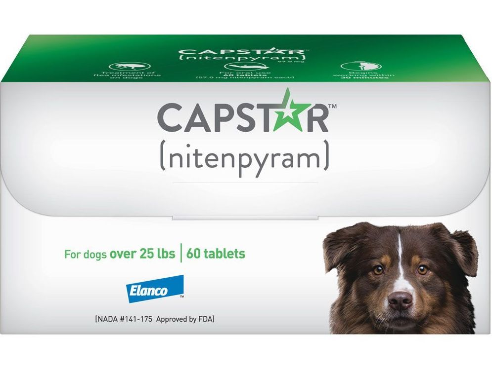 Capstar 60 tablets for dogs over 25 lbs (Green) 1