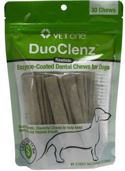DuoClenz Rawhide Chews 30 chews for dogs less than 11 lbs 1