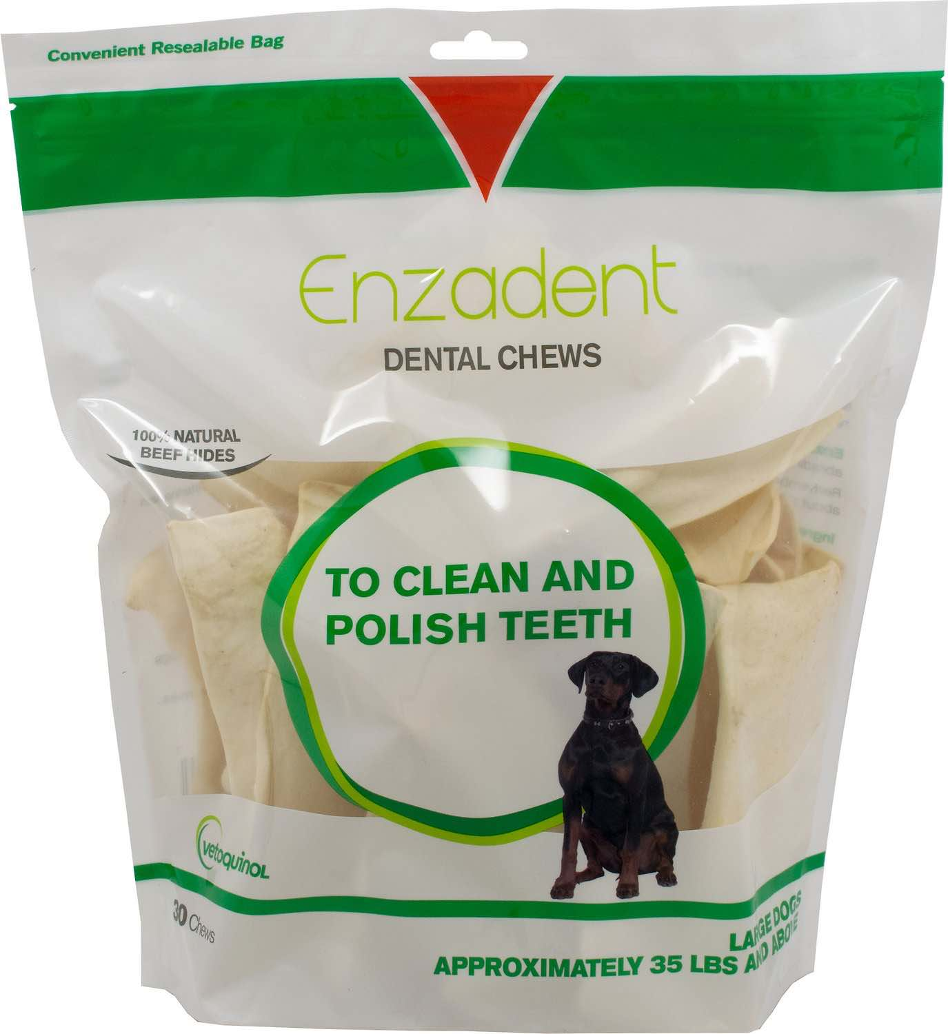 Enzadent Dental Chews 30 count for large dogs 35-50 lbs 1