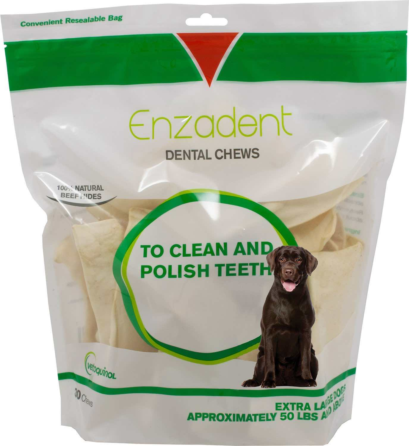 Enzadent Dental Chews 30 count for extra large dogs 50 lbs and above 1