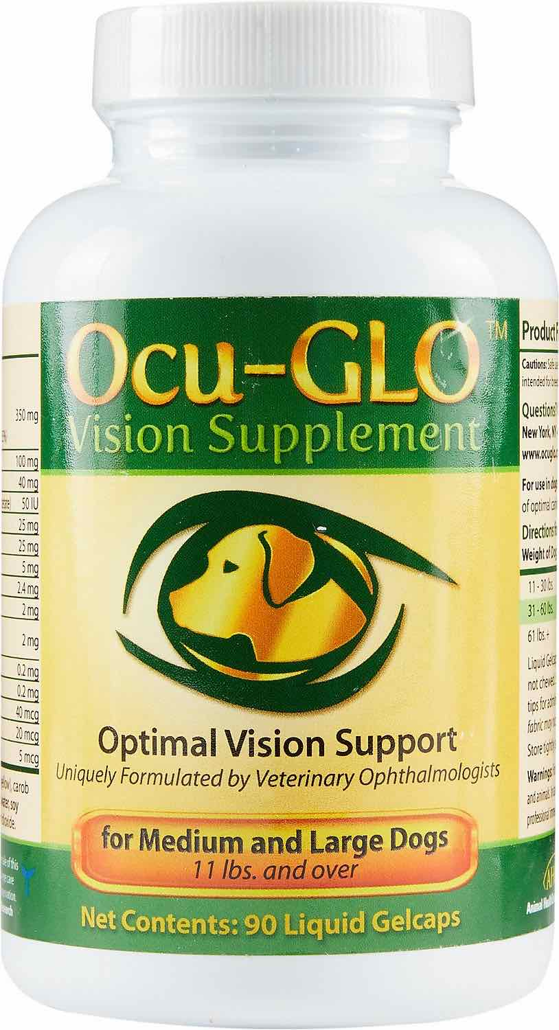 Ocu-GLO Gelcaps 90 count for medium & large dogs 11 lbs and over 1