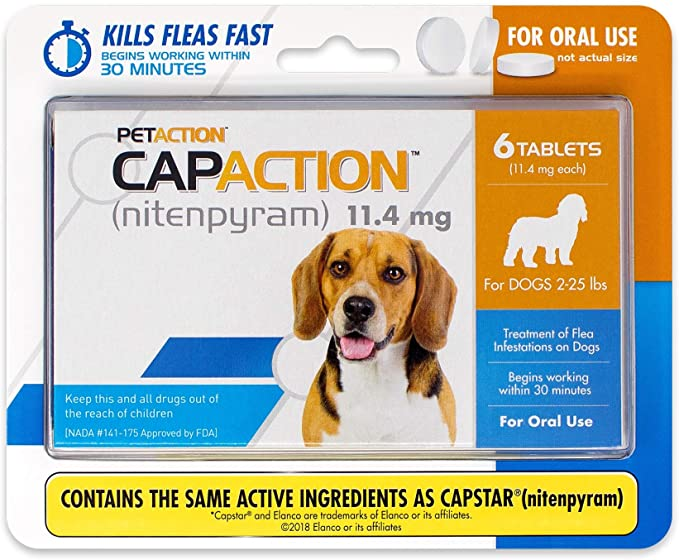 CapAction 6 tablets for dogs 2-25 lbs 1