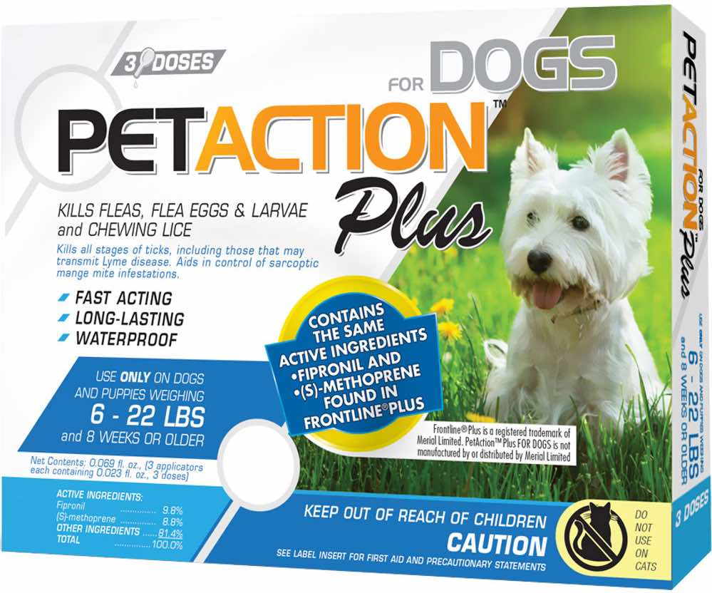 PetAction Plus for Dogs 3 doses 6-22 lbs (Blue) 1
