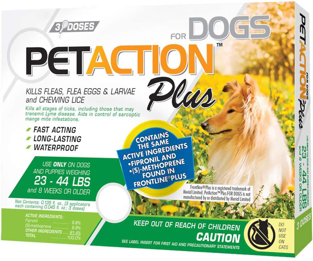 PetAction Plus for Dogs 3 doses 23-44 lbs (Green) 1