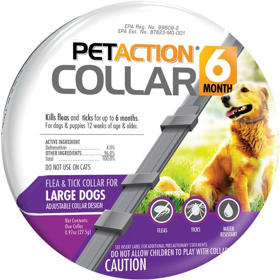 PetAction 6 Month Collar 1 count for large dogs 1