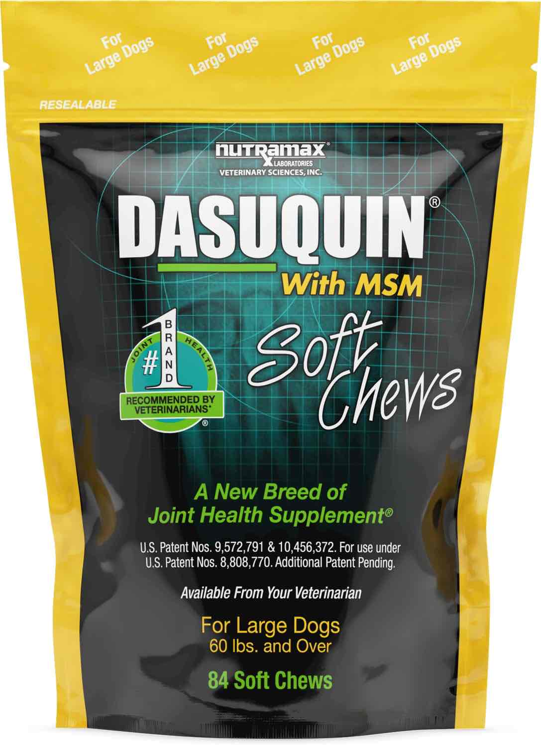Dasuquin with MSM Soft Chews 84 count for large dogs 60 lbs and over 1