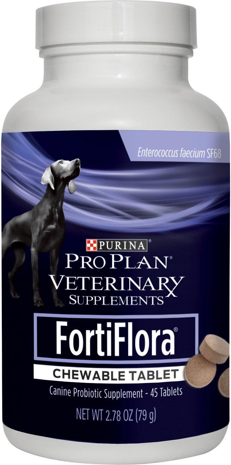 Purina Pro Plan Veterinary Supplements FortiFlora Chewable Tablet for Dogs 45 count 1