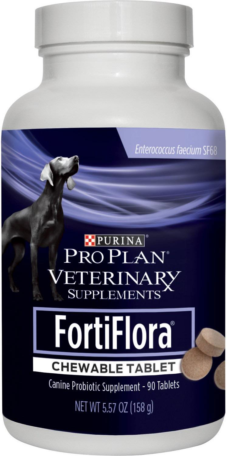 Purina Pro Plan Veterinary Supplements FortiFlora Chewable Tablet for Dogs 90 count 1