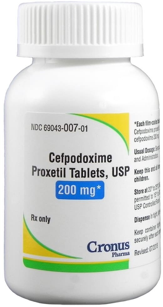 Cefpodoxime Proxetil 200 mg 1 tablet 1