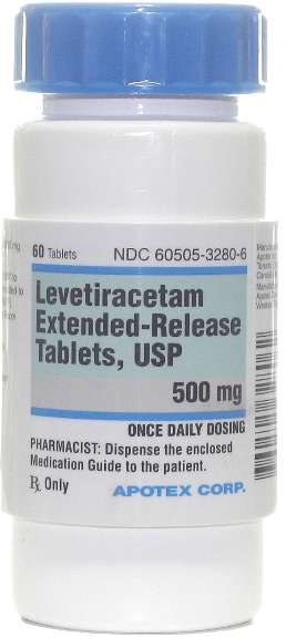Levetiracetam Extended Release Tablets 500 mg 60 count 1