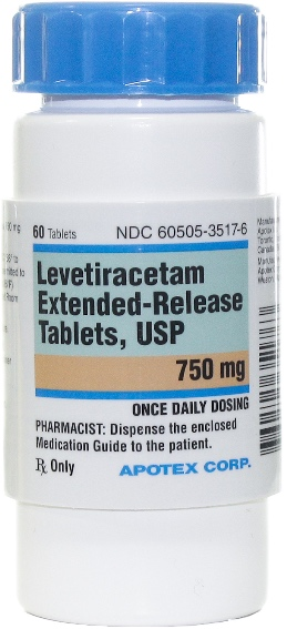 Levetiracetam Extended Release Tablets 750 mg 60 count 1