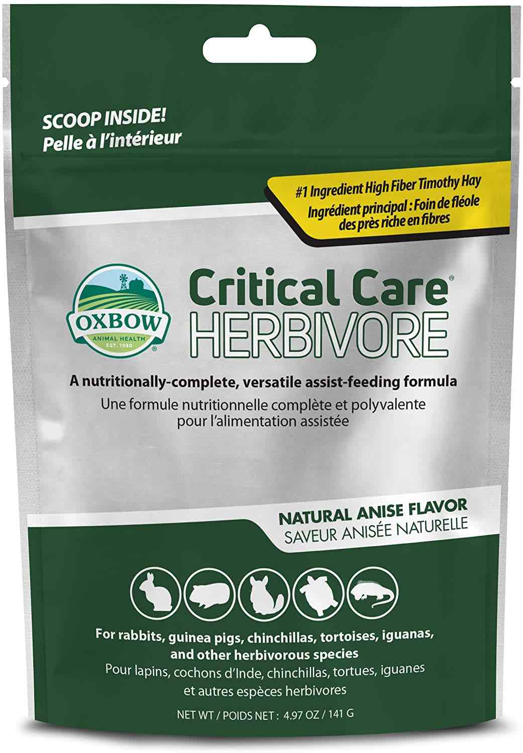 Oxbow Critical Care Herbivore 4.97 oz (141 g) bag Anise 1