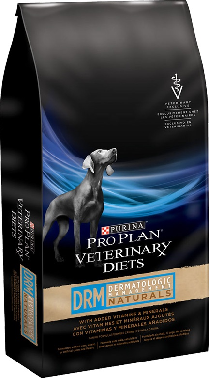 Purina Pro Plan Veterinary Diets DRM Dermatologic Management Naturals with Added Vitamins & Minerals  25 lbs 1