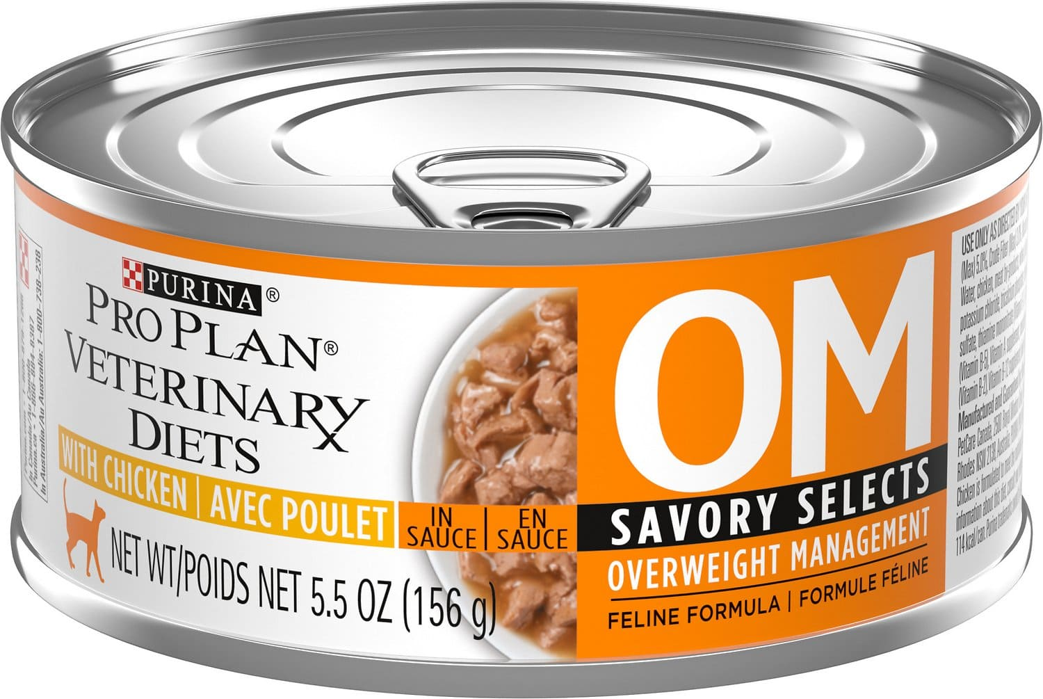 Purina Pro Plan Veterinary Diets OM Overweight Management Savory Selects Canned Formula 24 x 5.5 oz can Chicken 1