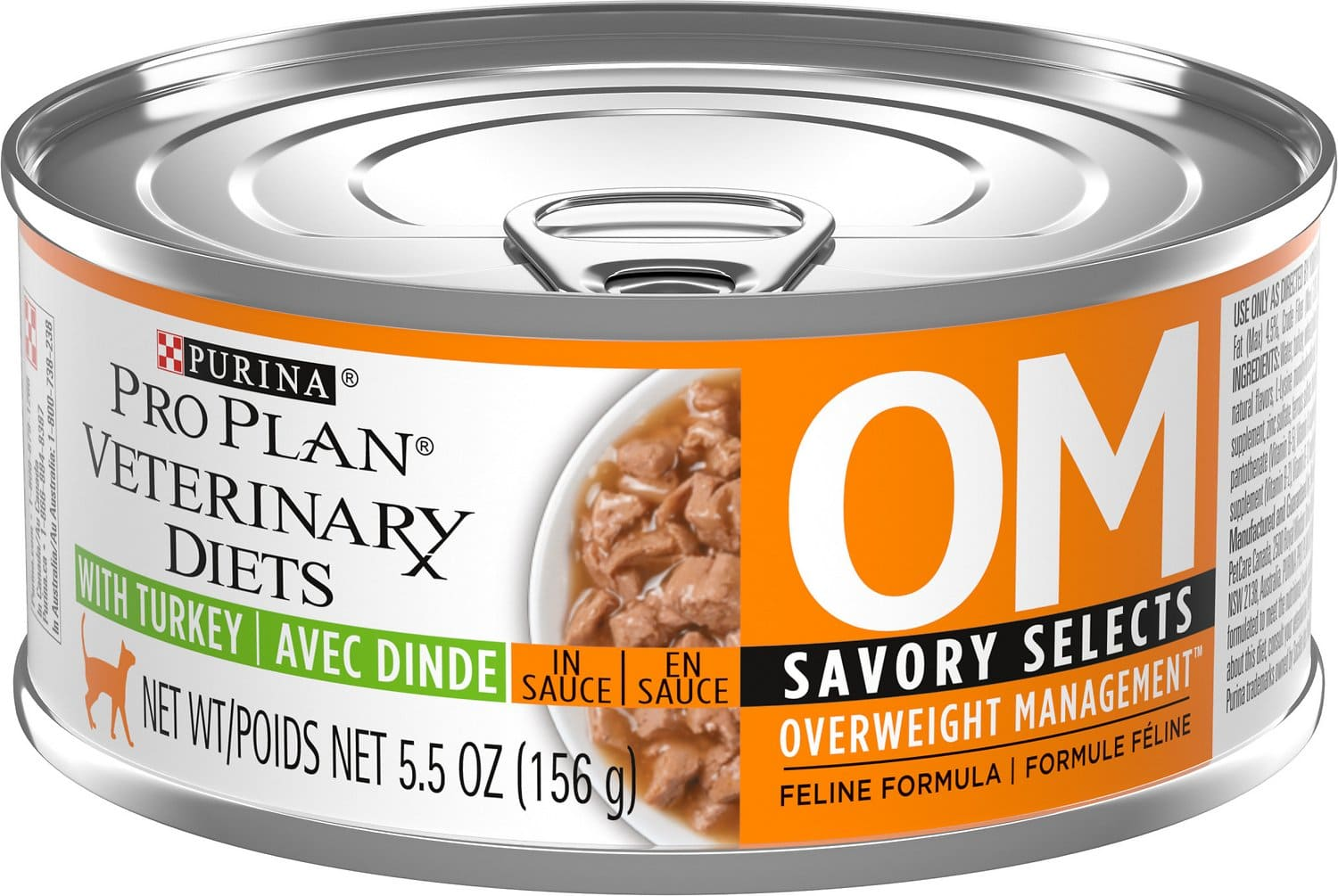 Purina Pro Plan Veterinary Diets OM Overweight Management Savory Selects Canned Formula 24 x 5.5 oz can Turkey 1