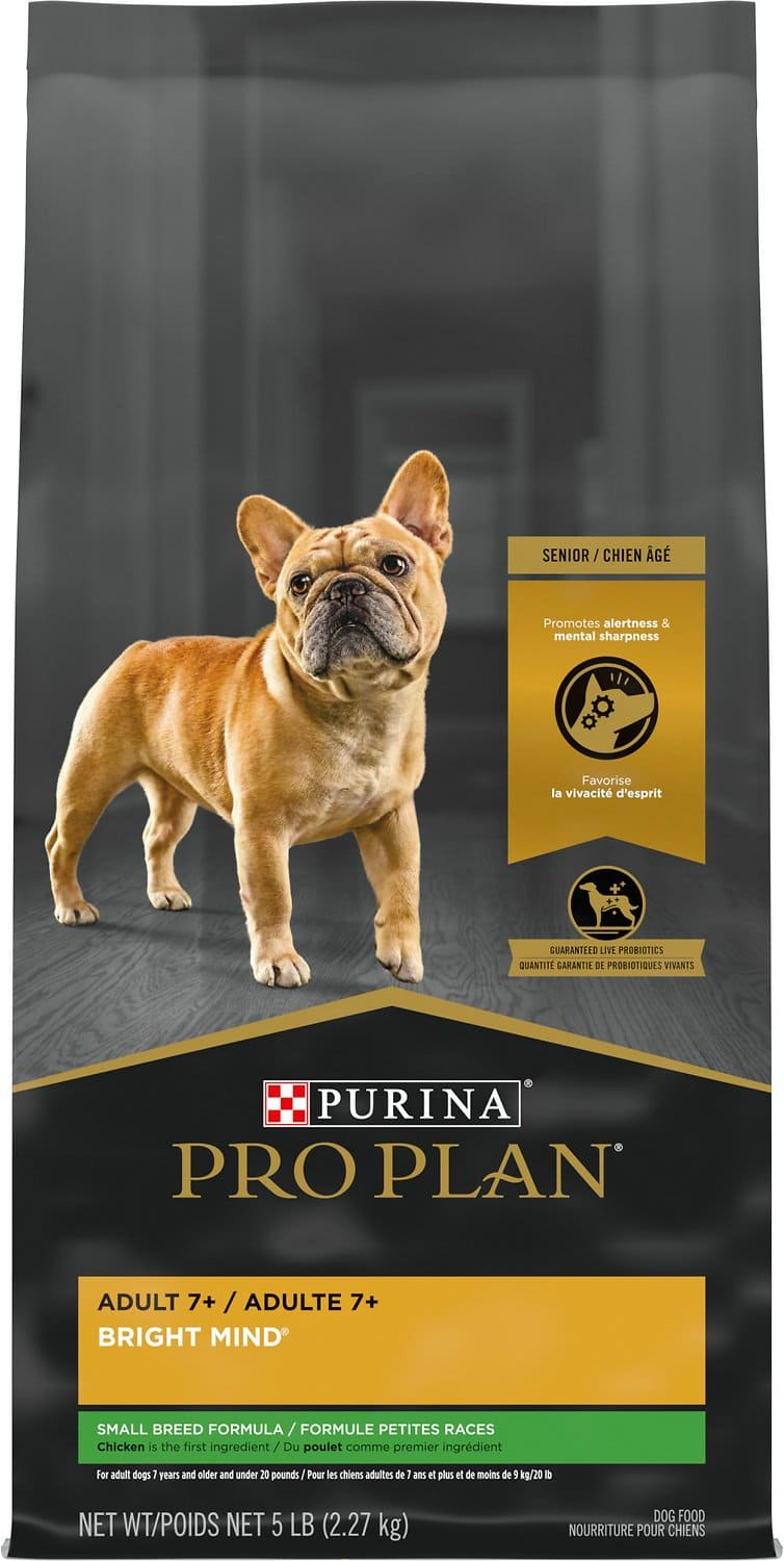 Purina Pro Plan Adult 7+ Bright Mind Small Breed 5 lbs Chicken & Rice 1